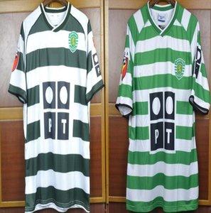 Thai qualtiy 2001 2003 2004 Lisbon ronaldo Retro soccer Jersey home away Vintage 01 03 04 Lisbon football Shirts Calcio Camiseta