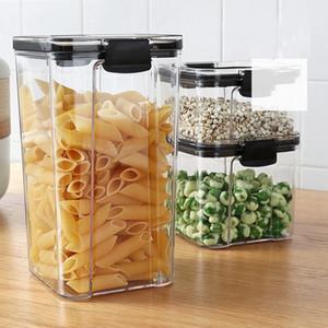 4-Pack Household Grain Storage Box Transparent Sealed Jar Nut Moisture Storage Tank(460Ml, 700Ml, 1300Ml, 1800Ml)