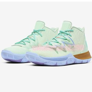 2020 New colour Arrival Mens Kyrie Shoes TV PE Basketball Shoes 5 For Cheap 20th Anniversary Sponge x Irving Five Luxury Sports Sneakers