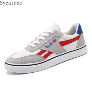 Sycatree 2020 Spring Autumn Casual Shoes Low Upper Canvas Shoes Men's Casual Cloth Students Board Sport Sneakers