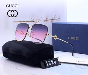 2019 Óculos de Sol Designer de Óculos De Sol Óculos de Marca de Luxo para Homens Das Mulheres Óculos Adumbral UV400 7 Cores de Alta Qualidade com Caixa