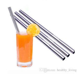 Durable Stainless Steel Straight Drinking Straw Straws Metal Bar Family kitchen 08