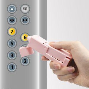 لا تعمل باللمس الصحافة مصعد أداة زر قطعة أثرية تجنب ملامسة البلاستيك فتح الباب أدوات حماية السلامة السفر الملحقات 6 5LB E19