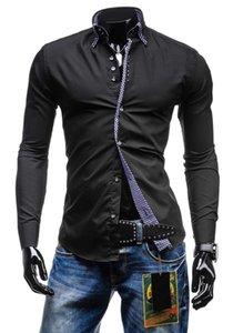 Vestido Mens Designer T-shirts Plaid saco Borda longas da luva Negócios Mens Causal Mais de Tops Tamanho