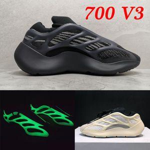 PK versione Azael Alvah Uomo Donna Scarpe 700 Designer V3 Carbon Scarpe Sneakers Vanta Salt Statico Geode riflettente nera inerzia corridore dell'onda