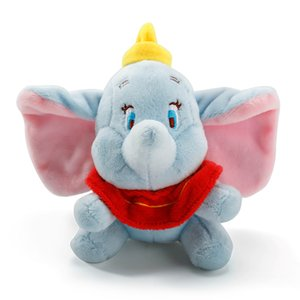 12cm Cute 2019Dumbo Stuffed Animal Plush Toys Small Pendant Lovely Peluche Cartoon Elephant Doll Presents for Children Key Chain