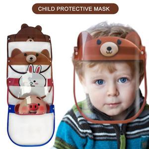 12 diseños máscara de protección del niño lindo de dibujos animados Aislamiento careta PET anti-niebla Mascarilla facial máscaras Prevenir transparente Kids Party visera