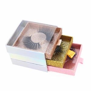 5/10/20/30/50/100 piezas pestañas falsas embalajes vacíos Lash caso de Bling del brillo de pestañas caja con pestañas bandeja Tire de la caja