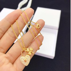 New d home gold love star studded diamond necklace women Seiko high version Necklace