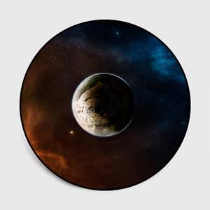 Les tapis ronds de l'espace de l'univers Belle univers espace ciel étoilé nuage lune rivière argent ciel nocturne tapis de tapis de sol en velours de cristal