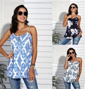 Femmes Designer Camisoles Tops Mode Femelle Contraste Couleur Imprimé Floral T-Shirts Tous Les Jours Sans Manches Printemps Été T-Shirts
