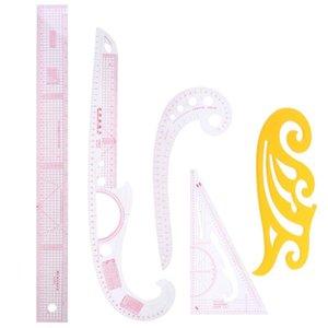 Praktische 5Pcs / Set Styling Lineal Französisch Curve Set Schneidelineal Yardstick Sleeve Arm Französisch Curve Cut Schneidmesser Nähen