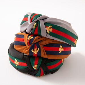 8 cores New Inverno Headbands Por T listrado banda mulheres Moda Padrão de impressão de qualidade Acessórios de cabelo topo