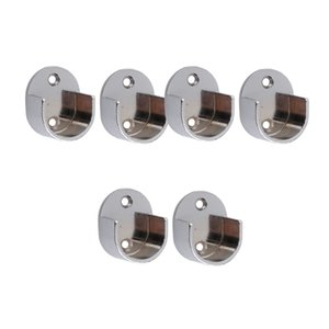 6x Cortina Pole Recess suporte de parede Curtain Rods Finials Janela Acessórios # 25 milímetros