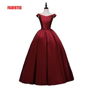 FADISTEE 2018 nuevo llega el vestido de fiesta del partido Vestido de Fiesta vestido de fiesta raso con cordones arco vestido de estilo largo