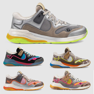 20SS Ultrapace Sneaker Kadın Erkek Tasarımcı Ayakkabı Deri Gümüş Metalik Pembe Antik Gri Kaya Tejus Siyah Süet Breve Des Chaussure Sapatos