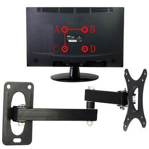 Displayer Vidalar Ile Düz Panel Ev Kullanımı Kamu Yerleri Duvar Asılı TV Dağı Set Ayarlanabilir Çerçeve Destek Için 10-24 Inç