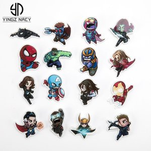 Marvel Badges Avengers Brooch Pins Thor Pin Movie Endgame Jewelry Iron Man Captain America Spiderman Brooches For Women Men Gift ejUNU