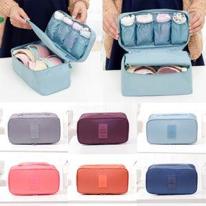 Vêtements pour femmes Soutien-gorge Sous-vêtements Chaussettes cosmétiques d'emballage Cube sac de rangement Organisateur bagages Voyage Sacs de voyage Sac Organisateur Insérer