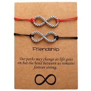 2019 Together Forever Love Infinity Bracelet for Lovers Red String Couple Bracelets Jewelry Gift Adjustable 2019 boho style
