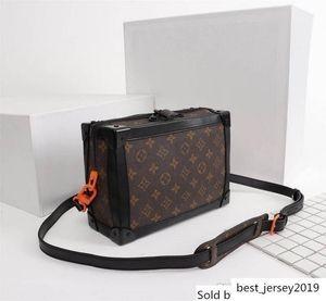 LoVuittoxVirgilAbloh SS19 Soft Trunk Black Monograms Neon Brown Box Bag Size: 25x17x9.5CM