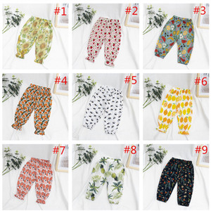 New Arrival Toddler Kids Pants Floral Print Baby Boys Girls Solid Anti-Mosquito Long Pants Trousers High Quality Drawstring Harem Pants 2020