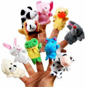 Even mini animal finger Baby Plush Toy Finger Puppets Talking Props 10 animal group Stuffed & Plus Animals Stuffed Animals Toys Gifts Frozen