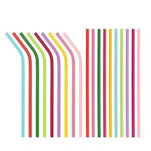 Buona qualità Acciaio inox pipette bevande per bere Riciclaggio Cannucce portatile rette e curve tubo multi colore 1 98yfH1