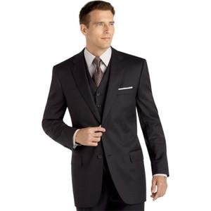 men suits black groom tuxedo 3 piece suit dinner wear 2020 custom made prom wear wedding