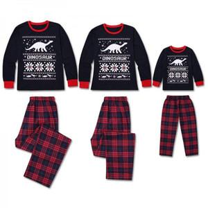 Focusnorm Christmas Family Matching Pyjamas Set Adult Kids Xmas Nightwear Pajamas Sets PJS
