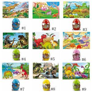 Dinosaur jigsaw Puzzles Wooden Dinosaur Egg Puzzle Game Toys Wood Jigsaw Gift Baby Educational Toys Party Favor GGA1678