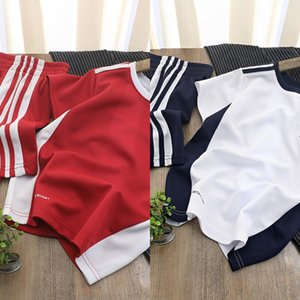 e1krT Boy's quick-drying light summer half-SHORT SLEEVED two-piece Boy's sportswear quick-drying light summer Sportswear t-shirt shorts half