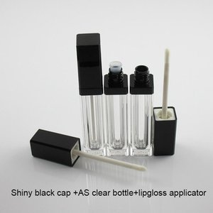 250pcs Square Shape Lip Gloss Container Lip Care Gel Bottle Cosmetic Lip Gloss Oil Dispenser Empty Pakcage Free Shipping Moq 7ml