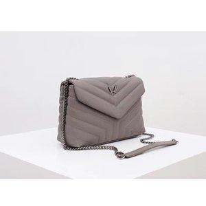 2020 gri süper nano gerçek deri kadın çantası tasarımcı çanta yüksek kaliteli omuz çantası cluth çanta içinde yapılan
