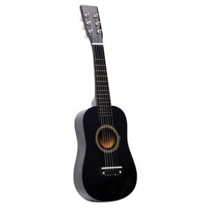 23 pouces Débutants Pratique Acoustic Guitar Noir avec Pick 6 cordes Enfants enfants des Etats-Unis Bateau