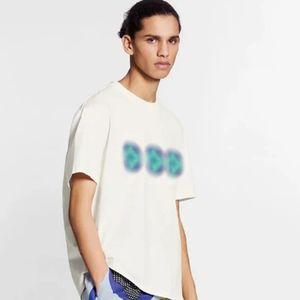 2020SS Lüks Avrupa Çok renkli Kasetli Desen Baskı Tee Kısa Kollu Tişört Moda Gömlek Pamuk Erkek Kadın Çift Tişört HFXHTX129