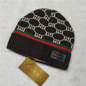 14 clássico cartas de homens e chapéus de moda feminina de luxo duplo G carta gorro de esqui no inverno ocasional lã chapéu morno knit