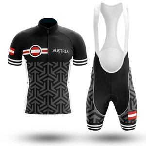 2020 new Austria Pro Bicycle Team Short Sleeve Maillot Ciclismo Men's Cycling Jersey Summer breathable Cycling Clothing Sets