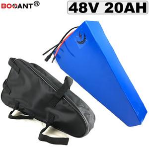 Triangulo 20AH 48 vs bateria de lítio bicicleta Elétrica da bateria 원래의 para 삼성 48 celular 18650 v 1000 w com bateria 음 Saco +