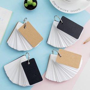 Flash Cards,4 Packs Kraft Paper Binder Ring Flash Index Blank Card Memo Pad
