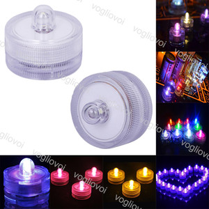 LED Candle Light Submersible Waterproof Tea Lights battery power Decoration Candle Wedding Party Christmas Halloween Festival Light EPACKET