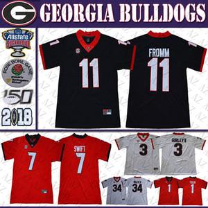 11 Jake Fromm Jersey Georgia Bulldogs 7 Dandre Swift 3 Todd Gurley 1 Justin Felder 34 Herschel Walker 4 Smith Jr. UGA Custom Football Jerseys