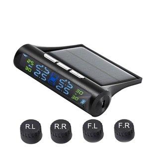 새로운 컬러 화면 TPMS 자동차 범용 타이어 모니터 태양 광 무선 타이어 압력 감지기 차량 감지기