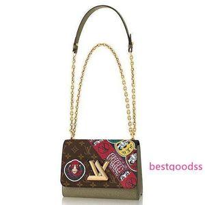 2020 M43497 Hot Sale Women Twist Mm Fashion Green Chain Hobo Handbags Top Handles Boston Cross Body Messenger Shoulder Bags