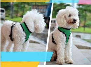 Brand New Pet Dog Nylon Mesh cinghia del cablaggio della maglia del collare piccole medie del cucciolo del cane Comfort Harness 7 colori