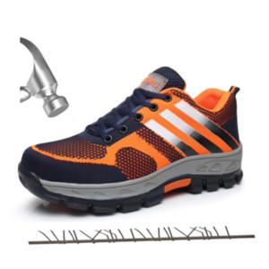 الرجال حذاء مصمم 2019 تو الرجال الصلب أحذية واقية كاب العمل Breatable قصيرة أحذية الرجال الصلب منتصف أحذية وحيد غير قابل للتدمير السلامة