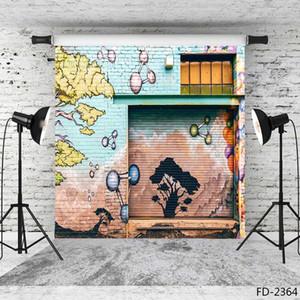 Graffiti yazma tuğla duvar vinil fotoğraf arka plan backdrop portre fotoğraf çekimi için 5X7ft vinil bez arka planında fotoğraf stüdyosu için