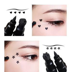 QIC Liquid Eyeliner Double Eye Eyeliner Waterproof Pen Star Moon Love Pattern Adorno Plum Blossom Eyeliner