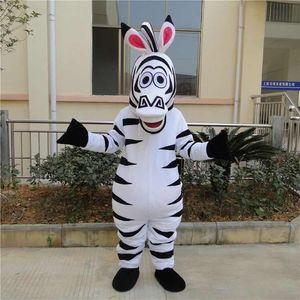 Zebra traje da mascote Ternos vestido de festa Vestuário personagem de banda desenhada roupa de aniversário Halloween Xmas Festival de Páscoa Adultos