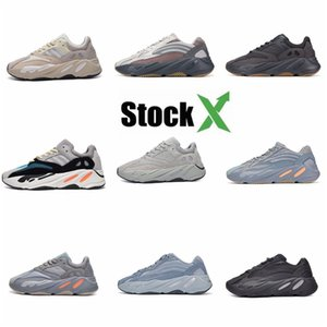 Kanye West 700 Mens Designer Running Shoes Luxury Women Casual Air Shoes Triple Black White Red Des Chaussures Bottom Sports Sneakers #QA955
